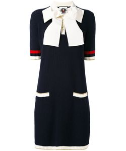Gucci | Bow-Embellished Knitted Dress