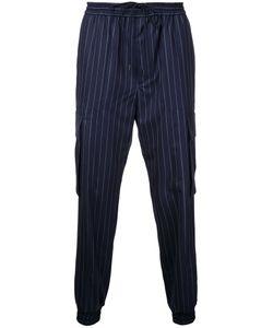 JUUN.J | Pin Striped Track Pants 48 Wool