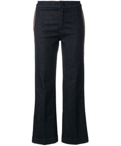 THE SEAFARER | Side Stripe Cropped Trousers Women