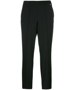 Twin-set | Pleat Detail Cropped Trousers 40 Polyester/Wool/Spandex/Elastane