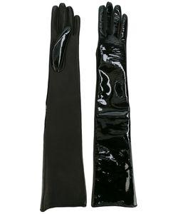 Manokhi   High Shine Gloves Leather/Polyurethane