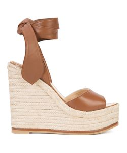 Paul Andrew | Wedge Sandals 40 Raffia/Leather/Rubber