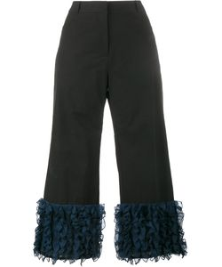Rosie Assoulin | Cropped Ruffle Trousers 4 Cotton/Silk