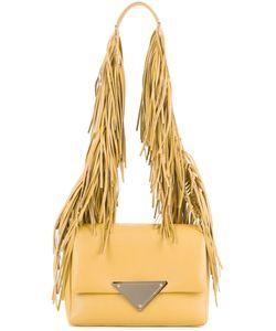 Sara Battaglia   Fringed Strap Shoulder Bag