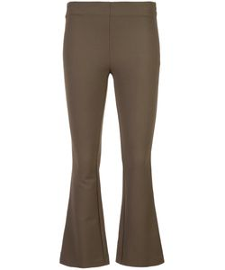 DUSAN | Fitted Cropped Flared Trousers Women