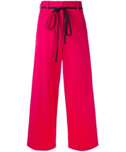 Hache | Wide-Legged Cropped Trousers 42 Cotton/Linen/Flax/Spandex/Elastane