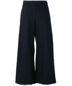 SIMON MILLER | Frayed Wide Leg Cropped Jeans