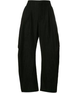 UMA WANG | Curved Leg Trousers Large Elastodiene/Rayon/Wool