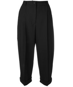 Dolce & Gabbana | Cropped Trousers 40 Wool/Silk/Spandex/Elastane