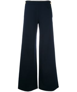 Alberta Ferretti | Buttoned Laterals Palazzo Trousers 42 Rayon/Polyamide/Other