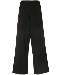 Y'S | Embroidered Trim Wide Leg Trousers Women