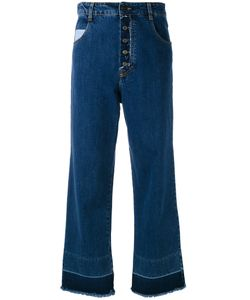 Semicouture   Frayed Wide Cropped Jeans Size 26