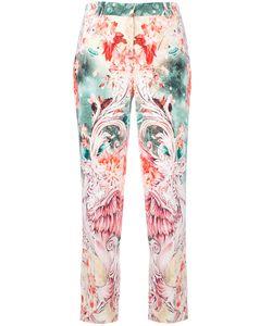 Roberto Cavalli | Print Cropped Trousers 46 Cotton/Viscose/Spandex/Elastane