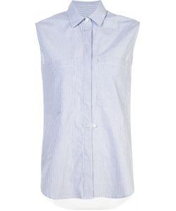 Derek Lam 10 Crosby | Pinstripe Sleeveless Shirt Size Large