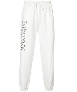 Andrea Crews   Work Print Sweatpants Large Cotton/Polyester