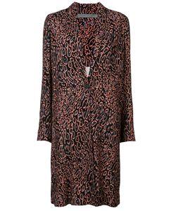 Raquel Allegra   Leopard Print Midi Coat