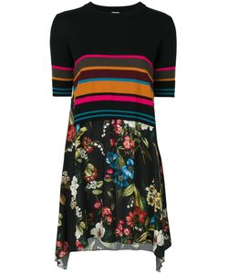 I'm Isola Marras | Stripe Contrast Dress Women Viscose/Virgin