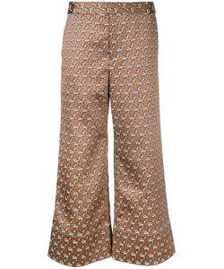 Irene | Jacquard Palazzo Pants Size 36