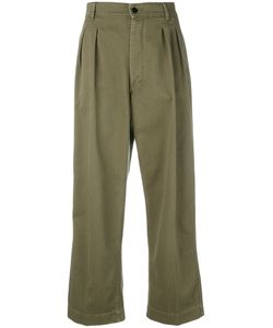 THE SEAFARER   Pleated Front Cropped Trousers