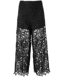 Alice + Olivia | Cropped Lace Trousers