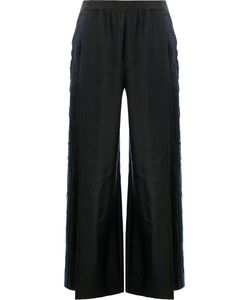 Ilaria Nistri | Side Stripe Wide-Leg Trousers 40 Linen/Flax/Viscose