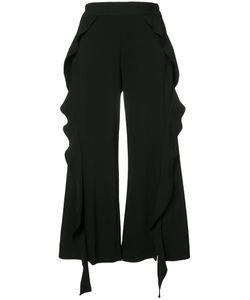 Jonathan Simkhai   Ruffle Detail Cropped Trousers Size 10