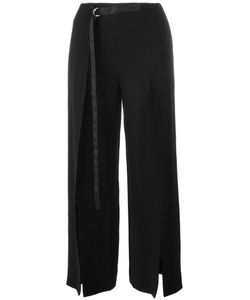 ZOE JORDAN | Roman Split Leg Trousers 10 Acetate/Viscose
