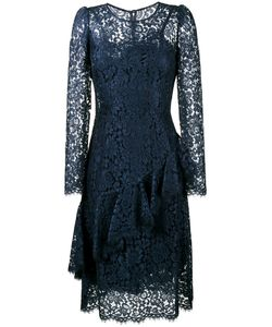 Dolce & Gabbana | Lace Ruffle Long Sleeve Dress Size 46