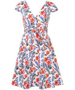 Carolina Herrera   Платье С Цветочным Принтом