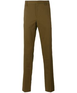 Lanvin | Flannel Slim Trousers 50 Silk/Cotton