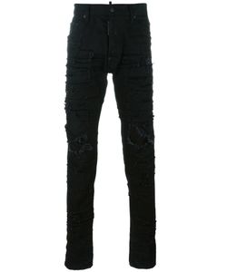 Dsquared2 | Cool Guy Distressed Patchwork Jeans 50 Cotton/Polyester/Spandex/Elastane