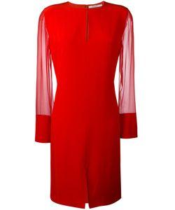 Givenchy | Sheer Sleeve Dress 38 Silk/Acetate