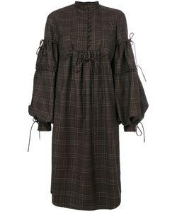 Veronique Branquinho | Checked Bell Sleeve Dress Women Virgin