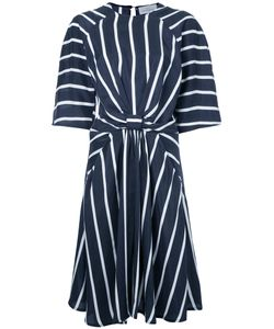 Preen By Thornton Bregazzi | Striped Dress Small Silk