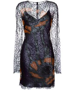 Nina Ricci | Sequin Embroide Lace Dress 36 Polyamide