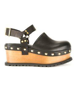 Sacai | Platform Clog Sandals 37 Leather