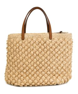 Ermanno Scervino | Woven Wicker Tote Straw/Leather