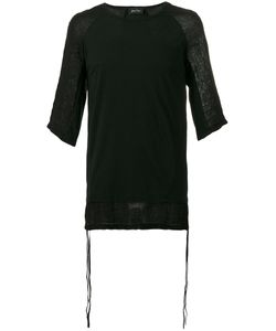 ANDREA YA'AQOV | Linen-Trimmed T-Shirt Size Small