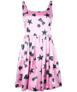 Moschino | Star Print Dress 40 Silk/Viscose