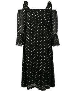 Ganni | Платье С Открытыми Плечами В Горошек Monette