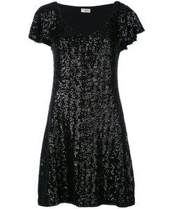 Saint Laurent | Sequin Flutter Sleeve Dress Medium Polyester