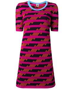 Missoni | Striped Pattern Shortsleeved Dress 42 Cotton/Polyamide/Polyester
