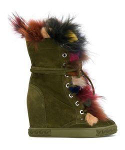 Casadei | Ботинки С Разноцветной Оторочкой