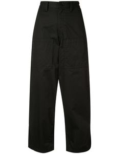 Y'S | Cropped Wide Trousers 1 Cotton