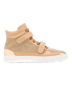 Louis Leeman | Double Strap Hi-Top Sneakers Size 44 Calf
