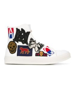 Alexander McQueen | Patch Detailed Hi-Top Sneakers 42 Cotton/Leather/Rubber