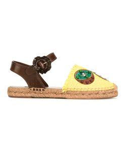 Dolce & Gabbana   Pineapple Kiwi Patch Espadrilles Size 36