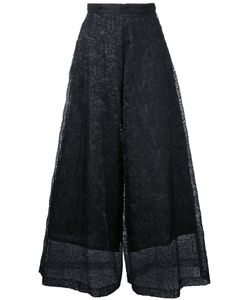 TARO HORIUCHI | Lace Detail Cropped Pants Polyester