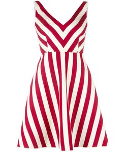 Red Valentino | Striped Dress 42 Silk/Cotton/Acetate/Polyester