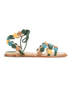 Paloma Barceló | Strappy Flat Sandals 39 Suede/Leather/Jute